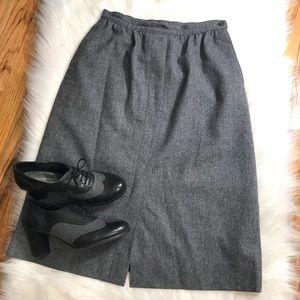 Vintage Pendleton grey wool A-line skirt Sm EUC